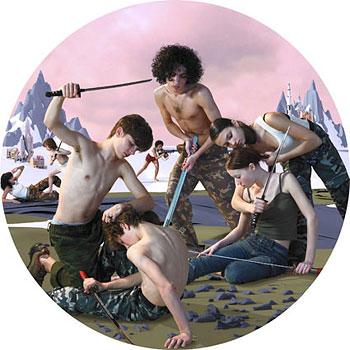 AES+F: Tondo Nr. 2., 2007. Digitális kollázs, olaj, vászon.