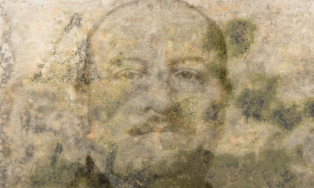 Hóman Bálint penészedő zsemlemorzsa-portréja