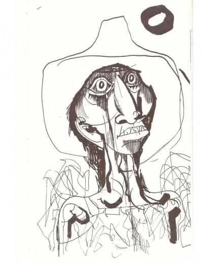 Hincz Gyula illusztrációja Györe Imre Orfeo szerelme című könyvében, 1969.