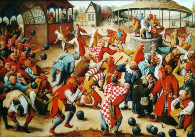 Pieter Bruegel: Feast of Fools (Bolondok mulatsága). Forrás: pieter-bruegel.co.uk