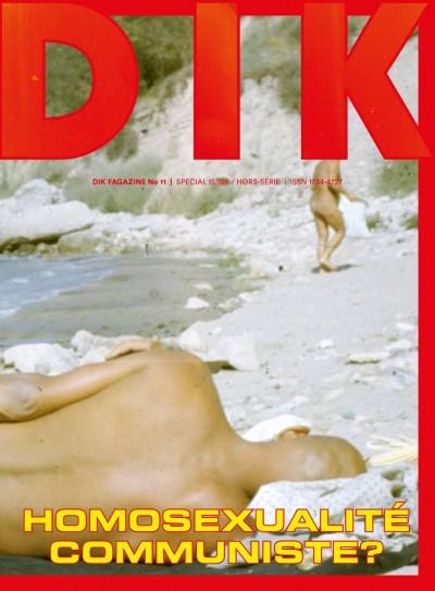 Karol Radziszewski: DIK Fagazine No. 11, issue: Homosexualité communiste?, Queer Archives Institute, 2017, (Borító: Ryszard Kisiel, Galata Beach, Varna, Bulgaria). Forrás: kink.cz