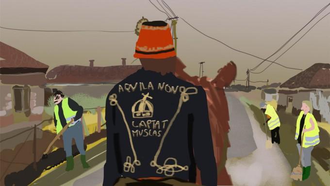 Részlet Bajusz Orsolya A világ legemberségesebb embere című animációs filmjéből.