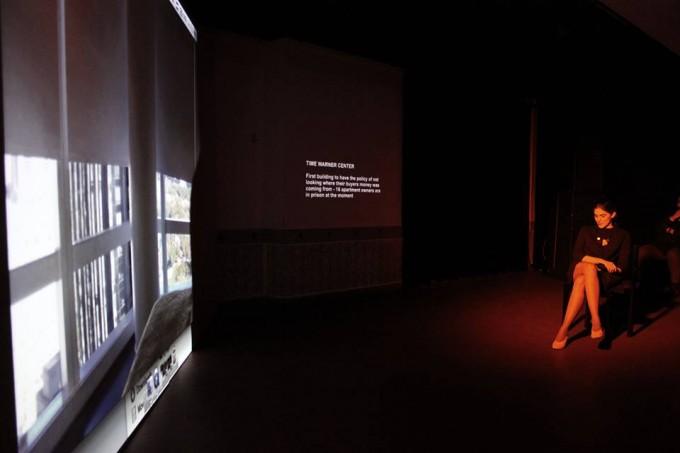 Schmied Andi: Szibériai márvány, lecture performansz részlet, 2017, Trafó Klub
